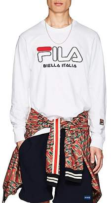 Fila Men's Embroidered Cotton Long-Sleeve T-Shirt - White