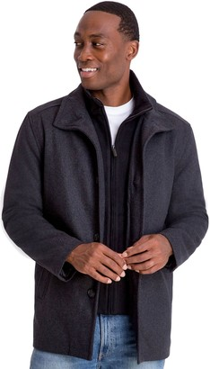 London Fog Tower By Men's Tower by Wool-Blend Car Coat