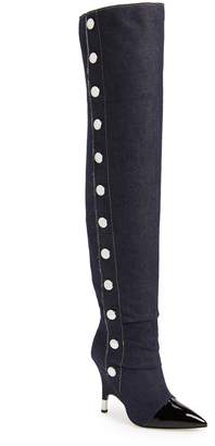Giuseppe Zanotti Horror Button Over the Knee Boot