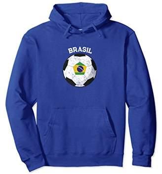 Brazil Brasil Soccer Ball Football Vintage Pullover Hoodie