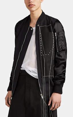 Rick Owens Men's Wool & Satin Bomber Jacket - Black