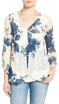 Women's Lucky Brand Layered Front Floral Top $59.50 thestylecure.com