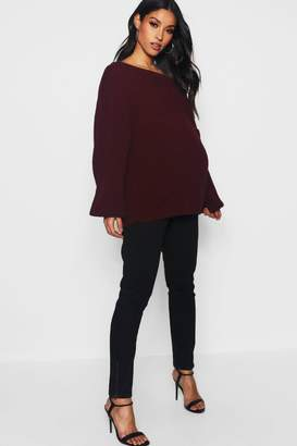 boohoo Maternity Over The Bump Skinny Jeans With Zips