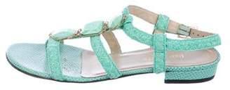 Eric Javits Embellished Karung Sandals