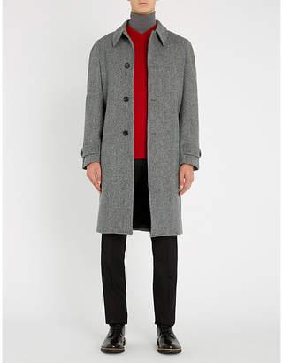 Crombie Herringbone-weave wool coat