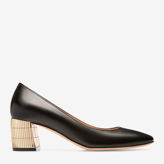 Bally Emily Black, Women's calf leather pump with 55mm heel in black
