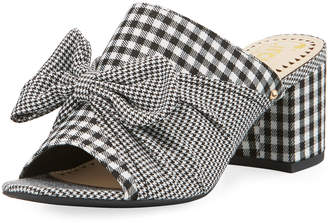 Sam Edelman Sydney Gingham and Houndstooth Mule w/ Bow