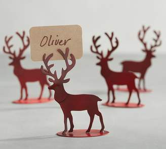 Pottery Barn Stag Couple Place Card Holder, Set of 4