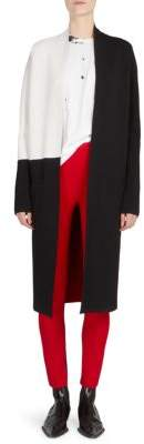 Haider Ackermann Long Colorblock Wool & Cashmere Cardigan