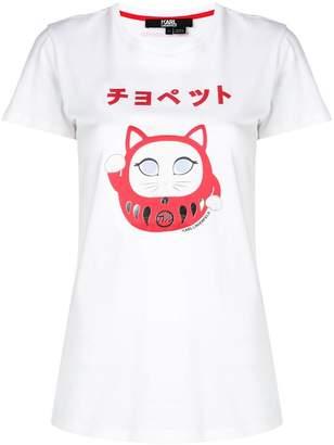 Karl Lagerfeld Ikonik Japan print T-Shirt
