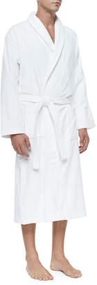 Derek Rose Terry Cloth Robe, White