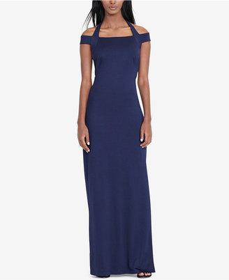 Lauren Ralph Lauren Jersey Off-The-Shoulder Gown $195 thestylecure.com