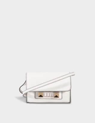 Proenza Schouler Ps11 Wallet with Strap in Optic White Mini Grain Leather