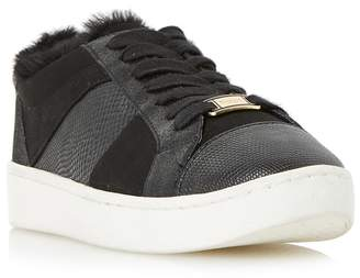 Dune Black 'Egypt' Contrast Panel Lace Up Trainers