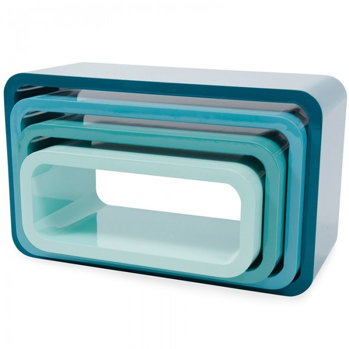 Sebra Blue Stackable Bookcase