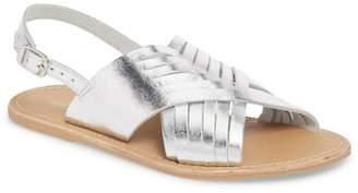 Topshop Hottie Cross Strap Flat Sandal (Women)