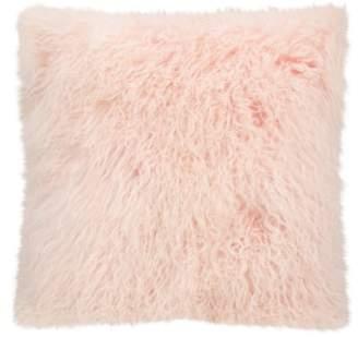 Mina Victory Genuine Tibetan Wool Shearling Pillow