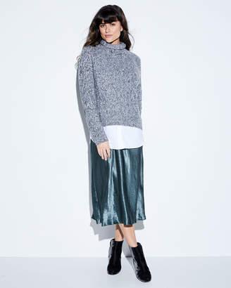 Vince Marled Raglan Wool-Cashmere Boat-Neck Sweater
