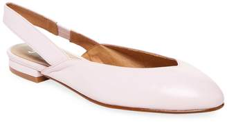 French Sole Women's Close Leather Slingback Pointed-Toe Flat