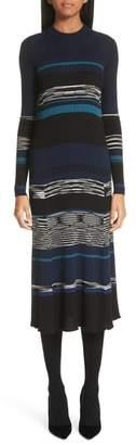 Proenza Schouler Stripe Knit Midi Dress