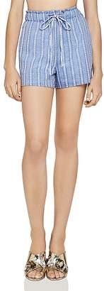 BCBGeneration Striped Drawstring Shorts