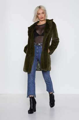 Nasty Gal Use Somebody Faux Fur Coat