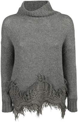 Ermanno Scervino Fringed Sweater
