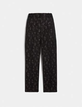 Coach Cropped Tailored Jacquard Pants