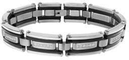 Lord & Taylor Cubic Zirconia Rectangular Link Bracelet