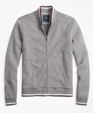Brooks Brothers Zip-Front Knit Jacket