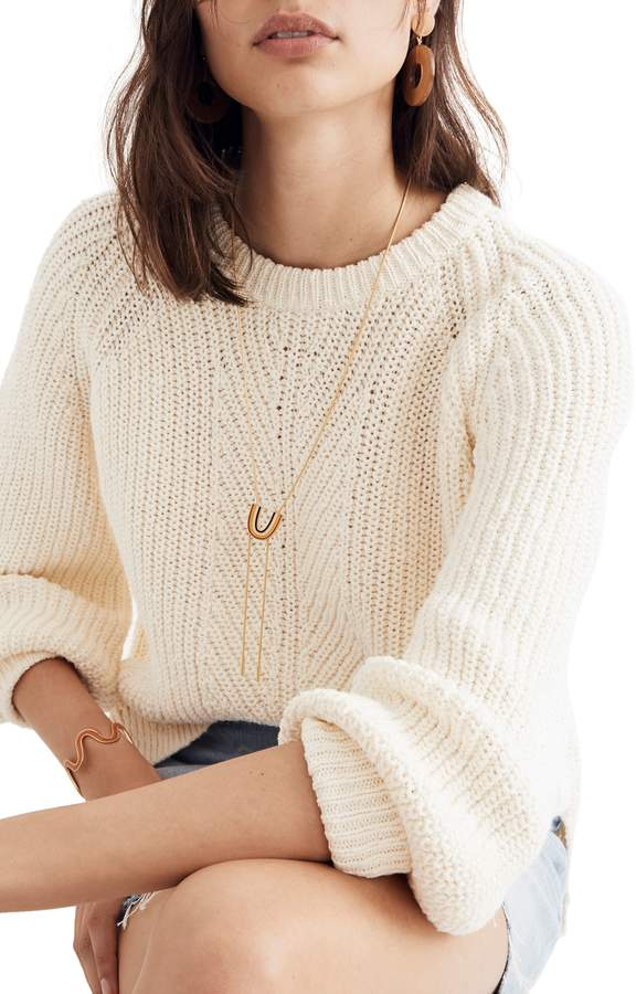 Madewell Balloon Sleeve Pullover Sweater