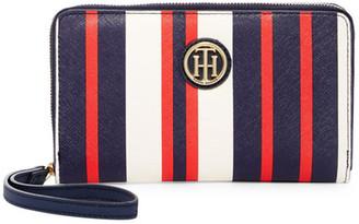 Tommy Hilfiger Signature Painted Stripe Wristlet Wallet $58 thestylecure.com