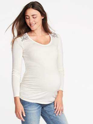 Old Navy Maternity Embroidered-Shoulder Top