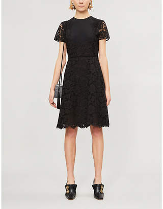 Valentino Short-sleeved lace dress