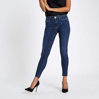 River Island Petite mid wash blue Molly skinny jeggings