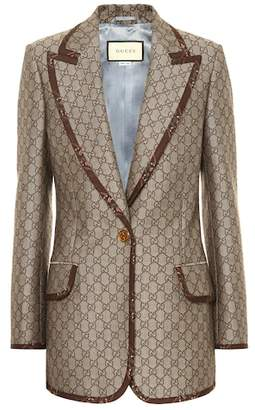 Gucci GG cotton and wool blazer