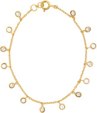 THEODORA WARRE Topaz and gold-plated bracelet