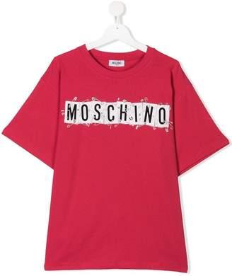 Moschino Kids TEEN logo print maxi T-shirt