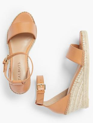 Lyndsay Espadrille Wedges - Vachetta Leather Fashion Colors $119 thestylecure.com
