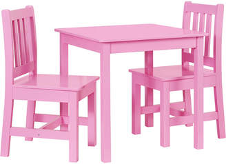 Linon Jaydn Pink Kid Table And Two Chairs