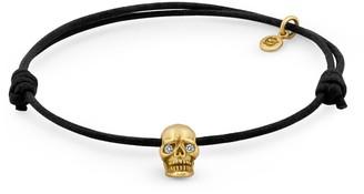 Snake Bones Skull Bracelet Yellow Gold Diamond Eyes