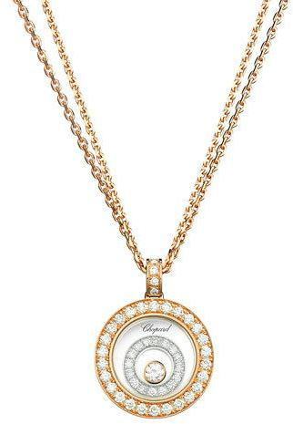 Chopard Chopard Happy Spirit 18k Two-Tone Diamond Long Pendant Necklace, 0.72tcw