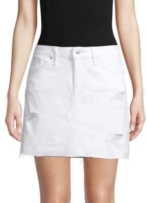 395f0fadbb Joe's Jeans Distressed Denim Mini Skirt