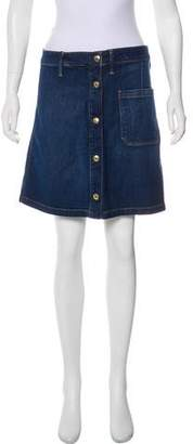 Frame Mini Denim Skirt