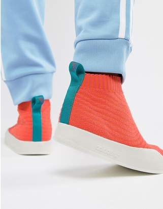 adidas Adilette Primeknit Sock Summer Sneakers In Orange CM8227