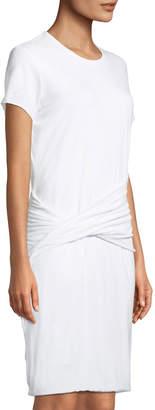 James Perse Twist-Waist T-Shirt Dress