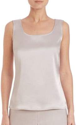 St. John Caviar Collection Satin Tank Top