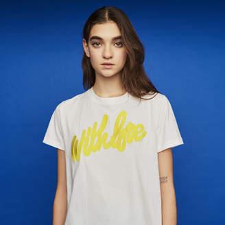 Maje Tee-shirt with embroidered slogan