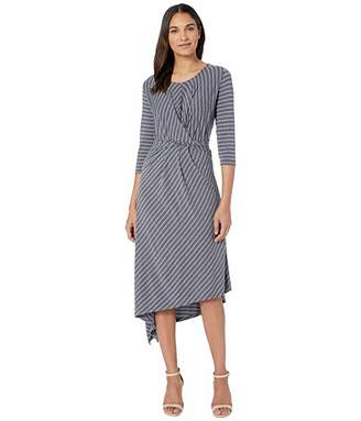 Bobeau B Collection by Clara 3/4 Sleeve Wrap Front Dress
