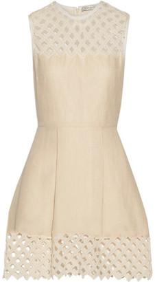 Sandro Rita Crocheted Cotton And Linen-Blend Mini Dress $530 thestylecure.com